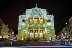 Videokunst-Fassaden-Projektion